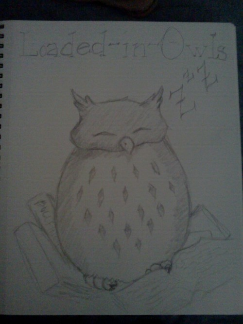 emilytuscaloosa:  Loaded-in-owls mentioned that she nests in old textbooks.  Well, I couldn't leave that unillustrated, could I?