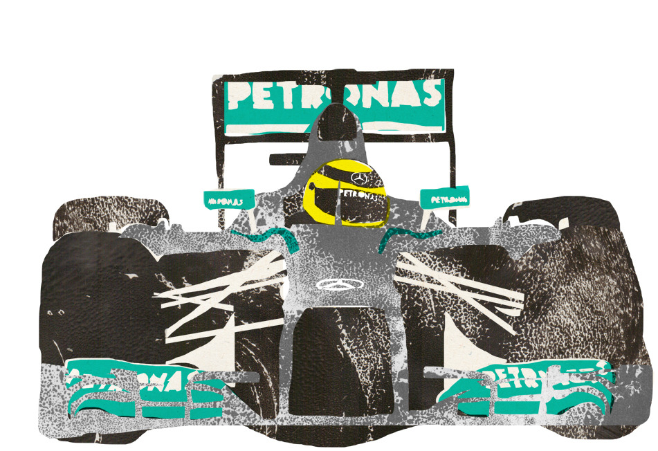 lisastathamillustration:  F1 digital collage - Nico Rosberg - More here