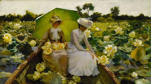 Lotus Lilies, Charles Courtney Curran, 1888.