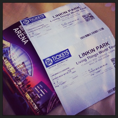 Yeeeeey! I really wanted a VIP seat though. Pero okay na to. <3 #LinkinPark #LP #concert #LivingThingsWorldTour