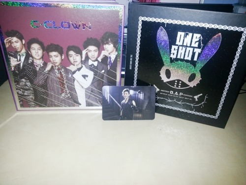thank you roseane! my bap and c-clown albums finally came in~~ ahh i'm so happy i got jongup's photo card keukeu i wanted zelo or himchan's photo card but that's okay jongup is just fine too