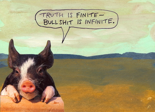 stoicmike:  Truth is finite — bullshit is infinite. Stick with the finite. - Michael Lipsey
