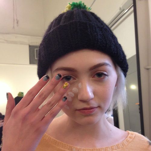 Nail art at Degen. Photographed by Madeline Jacobs.