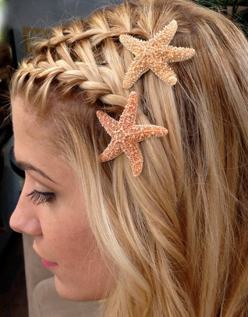 shop-cute:  Starfish Hair Pins (Set of 2) $15.00