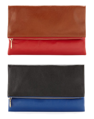 Want a Clare Vivier foldover clutch but don't want to spend $150-$200? These clutches from Neiman Marcus (red, blue) are on final sale for $95, but you can get an additional 30% off today with the code FRIEND.
