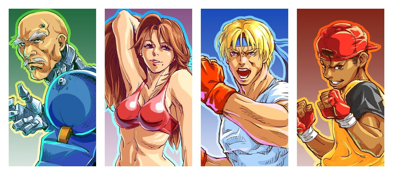 digivalentine:  Swap out Zan for Adam and that's my favourite Streets of Rage line up, right there.Blaze Fielding! YOU STILL GOT IT, girl! Oof!~♥Art by - Kamiomutsu