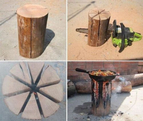 Cool Homemade Log Stove