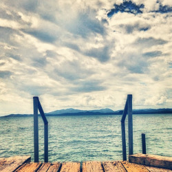trishuhem:  #puertorico #naguabo #beach #christmas #pier #clouds #sky #stairs #iphone5 #iphonography by Joshua Sarinana on Flickr.
