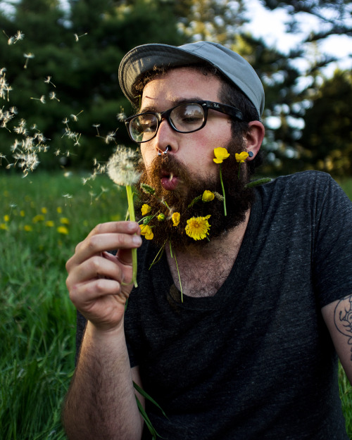 Zach & flowers. Jamaica Plain, 2013.