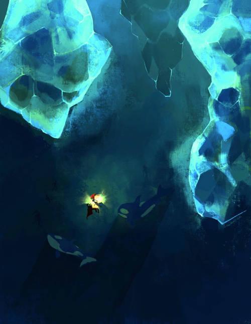 sixofclovers:  icy waters