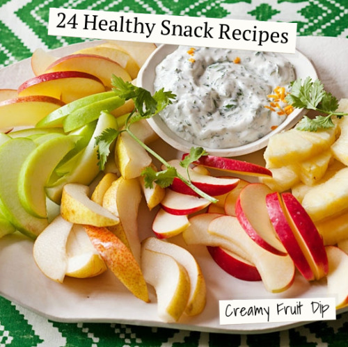 Daily Bite: 24 Healthy Snack Recipes