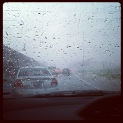 I need a road that takes me anywhere but here #road #rain #sucks  (at Goya Factory)