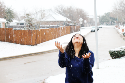 Took a bunch of pictures in the snow cause this is the first time my cousin saw snow.