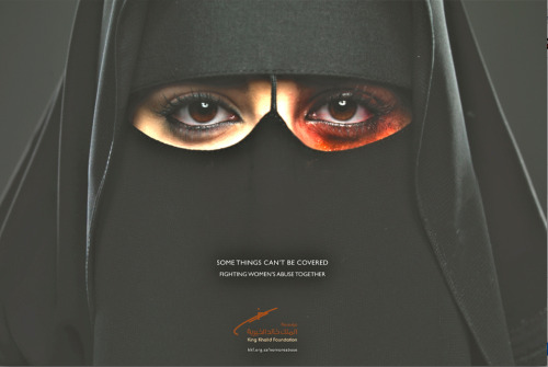 joelegomez:  First ever Saudi Arabian female abuse ad. Ad Agency: Memac Ogilvy, Riyadh