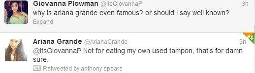 theafrikan:  Never knew Ariana had killer comebacks!  Oh Ari!