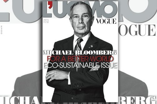 Why is Bloomberg on the cover of Italian Vogue?