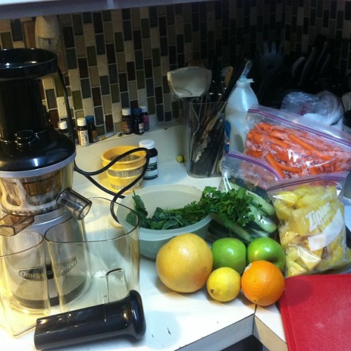 About to test my new baby out! #vrt350 #juicing #juice #healthyliving #cleaneating #fitfam #fitspo #motivation #inspiration #instagood #abchallenge #absaremadeinthekitchen