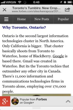 #Ontario has an ICT Startup Cluster 2nd only in North America to Silicon Valley & ranked best support for tech entrepreneurs! (From Forbes)