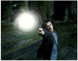 Can You Name the Harry Potter Spell? There are a seemingly endless number of spells in Harry Potter. How many can you name? The spell expecto patronum has what effect? Can you guess which one? Makes a target vanish. Conjures an incarnation of the caster's innermost positive feelings. Creates a bandage and a splint. Causes the target to become covered in boils.