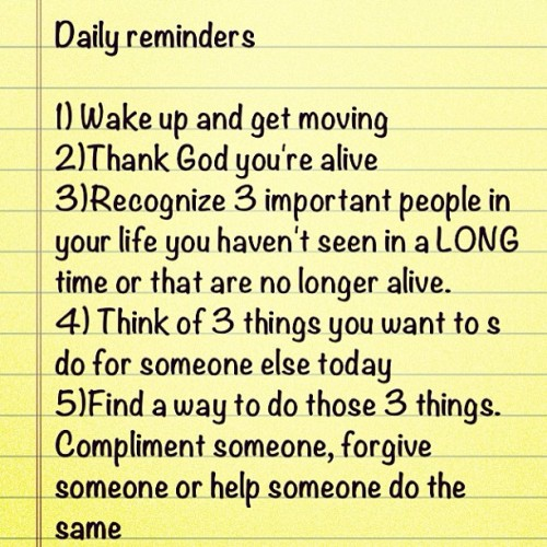 Guide to a great day…