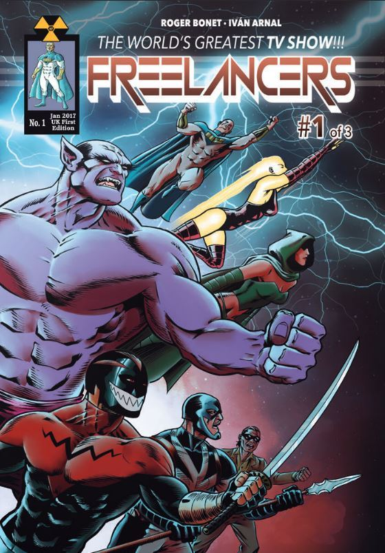 Freelancers #1 http://www.wpcomicsltd.com/ is a 30-page, standard size, full color, superhero comic created by Roger Bonet with art by Ivan Arnal, colors by Rafa Barragan, and lettering by Henar Casal. Published by WP Comics Ltd. In Giant City super...