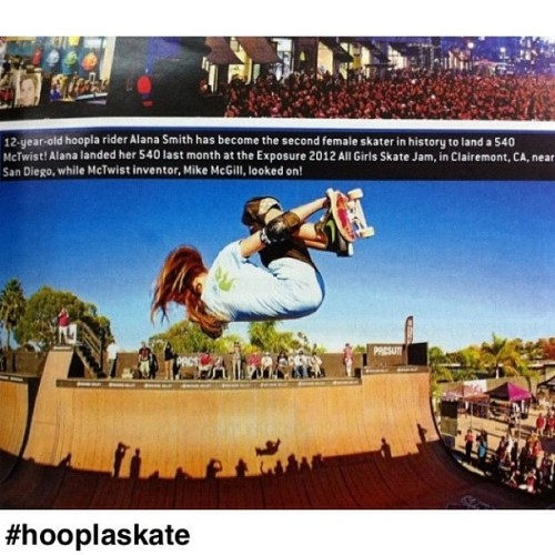 hooplaskateboards:  Miss @alanasmithskate making it into an action sports magazine in #Dubai !
