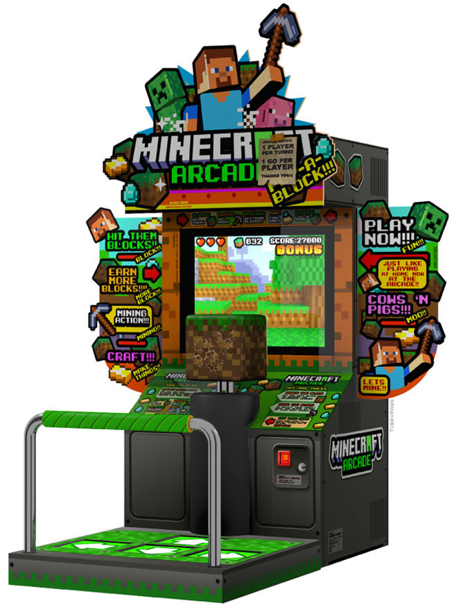 zxdemidasxz:  tubbypaws:  i saw a minecraft arcade machine but it was only a dream…  I'd play this