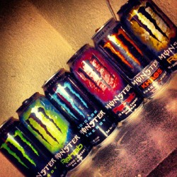 Just 2 more for my collection… Thanks to my love @garelloo  #MonsterEnergy #Drinks #Collection #Bottles #Monster