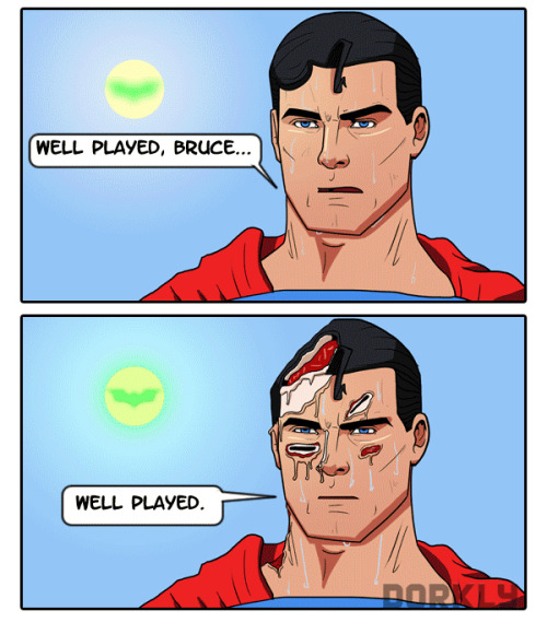 darknightdudes:   Injustice: Gods and Rich Mortals Among Us  It's obviously Batman.