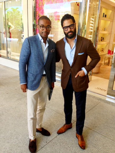 Espresso and chats about Sartorialism in Miami with Kamau Hosten with the Proper as Hell Blog.