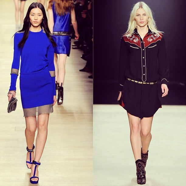 Memories….our favourite looks from AW12 Paris Fashion Week - get the Isabel Marant Leo dress and  Paco Rabanne Mesh skirt on SALE now! #sale #parlourx #pacorabanne #isabelmarant #leodress #western #models #model #want #need #fashion #paris #fashionweek