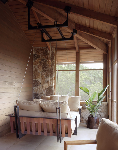 georgianadesign:  Luxe porch swing, Austin. Furman + Keil Architects.