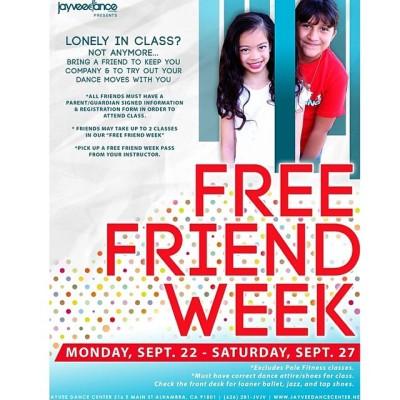 #freefriendweek starts next Monday! Be a friend & tag who you are bringing! #yourmove #jayveedancecenter