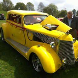 Beautiful car #carshow #hertscarshow #yellowcar