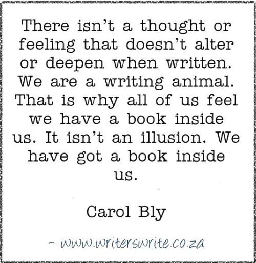 WritingQuote – Carol Bly