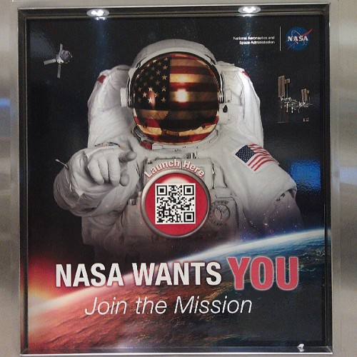 QR CODES IN SPACE!