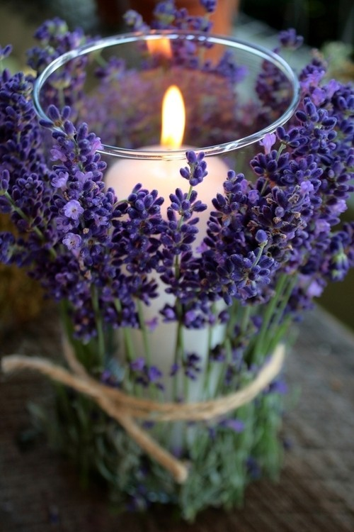 DIY | lavender candle holder