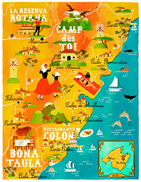 Mallorca by Vesa Sammalisto, from Gestalten's A Map of the World: The World According to Illustrators and Storytellers