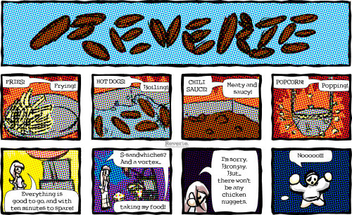 "Reverie comic | ""The Vortex Is Hungry!"" a Heaven Sent Gaming comic by: Artist: Isabel ( http://cinnamonbell.tumblr.com/ ) Writer: Mario ( http://smile-lee.tumblr.com/ )"