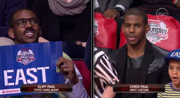 Cliff Paul spotted at the All Star Game!