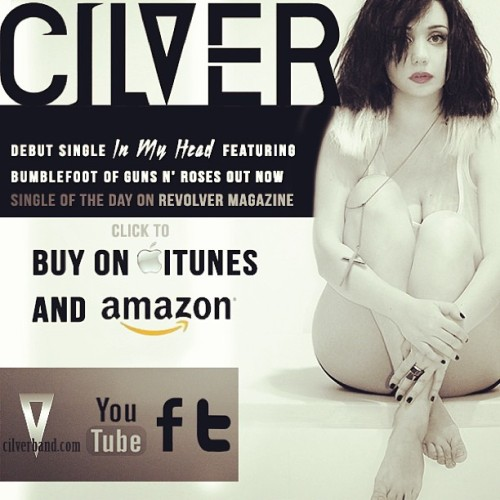 """In My Head"" is on #itunes & #amazon -Get it Now!!! http://bit.ly/CilverInMyHead http://bit.ly/CilverAmzn"