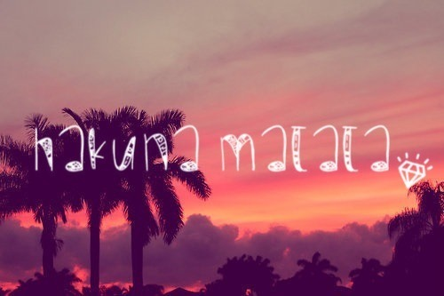 #hakuna matata #beautiful #view #diamond #sunset