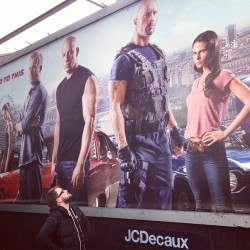 I can only assume this poster of my homeboy @therock is life size