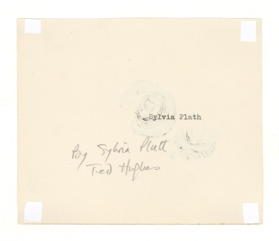 The reverse-side of Sylvia Plath's drawing of a chestnut.