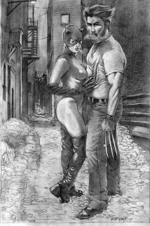 Catwoman and Logan By myleadinglady on Deviant Art