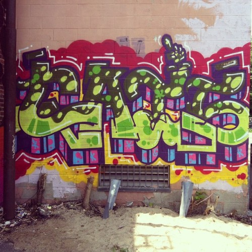 #graffiti #roxbury #boston #permissionwall #streetart  (at Bartlett Events @ Bartlett Yard)