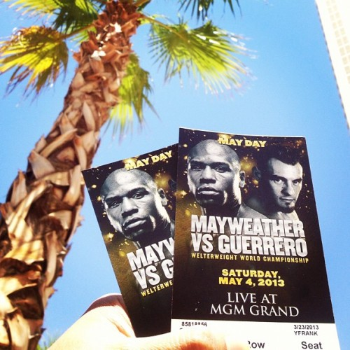 #mayweather fight tickets #lasvegas #poolside (at MGM Signature Pool)