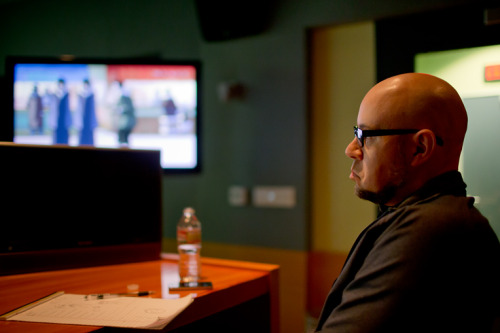 "palemarried:  bryankonietzko:  Mike says ""hmmmmmmmm"" at a mixing session at Levels Audio yesterday. We have attended over 70 mixes together through the years, and we still really enjoy the process… unlike retakes.  I SPY WITH MY LITTLE EYE THE TWINS OH GOSH   DA TWINS AND BOLIN YAY"