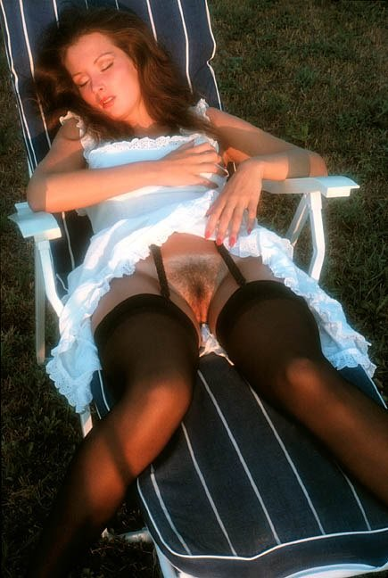 "nofrillsretro:  Carolyn Patsis, Penthouse Pet  .    ""She's wearing a white peasant thingy!"""