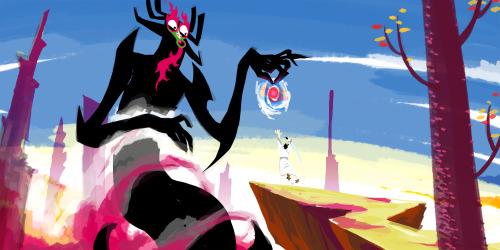 dinolich:  diarrheaworldstarhiphop:  Long ago in a distant land, I, AKU. The SHAPE SHIFTING master of darkness, unleashed an UNNNSPEAKABLE evil. But a fooolish samurai warrior wielding a magic swoord stepped forth to oppose me. Befoh the final bwow was struck, I TWOOW OPEN A POHTAL IN TIME, and FWUNG him into the future where my evil is lraw. Now the fool seeks to return to the past and undo the future that is Akuuuu. (A quick hour long speedpaint donator sketch for Weasyl! I was asked by one of the tier funders to draw Aku. I GLADLY OBLIGED. I also found it as an excuse to replicate this one scene from the show that is probably my GOAT.)  DUDE.